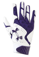 Under Armour Radar Batting Gloves, Women's Size M, Purple, White, Softball B1