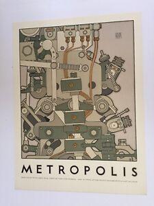 "DAVID LANCE GOINES ~ METROPOLIS ~ 1981 18""X 24"""