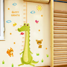 Crocodile Grow Height Chart Wall Sticker Decor Baby Kids Decal Nursery Art