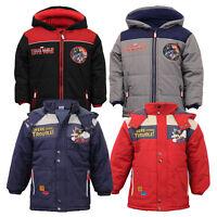 Boys CAPTAIN AMERICA SPIDERMAN Jacket Kids Padded Marvel Disney Civil War Hooded