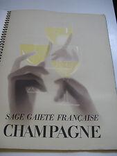 PAUL IRIBE SOURIRE DE REIMS CHAMPAGNE 1932 Illustré PUBLICITE DRAEGER ALCOOL
