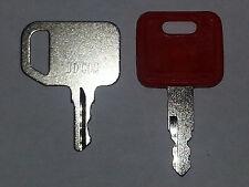 2 John Deere Heavy Equipment Keys-Pair-Common & Excavator- Many Models-#13,14