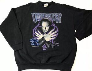 VTG 90s The Undertaker WWF Sweatshirt mens Large wwe Darkness Shirt Wrestling