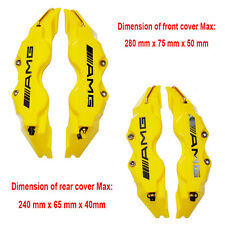 AMG BRAKE CALIPER Front & Rear YELLOW 3D COVER 4PCS For Mercedes-Benz C E A B