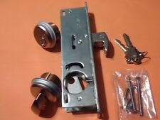 "Hi-Rise Mortice Lock Body with 2 Brass Cylinders, #304 Hook Bolt, 1 1/8"", NEW"