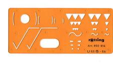rOtring Zeichenschablone für Oberflächenzeichen N° 850 614