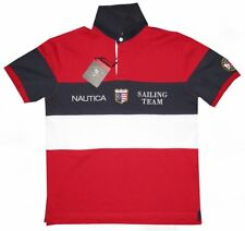 NEW RARE NAUTICAL SAILING TEAM LIMITED RED WHITE BLUE POLO RUGBY SHIRT XL