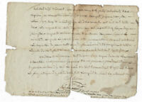 1832 manuscript document damaged nice oncial signature