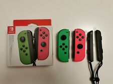 Nintendo Joy-Con Controllers Pair - Neon/ Green and Pink Perfect Condition