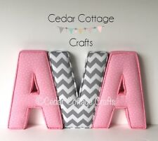 Fabric covered padded Letters nursery,home, childrens Wall Art handmade gift