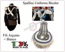 Coppia di Spalline Uniforme Storica GUS Carabinieri Argento + Blu Brigadieri NEW