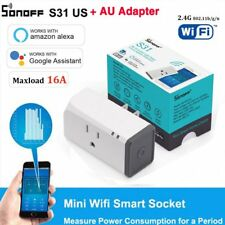 Sonoff S31 Smart Plug Socket Adapter Switch 16A Wifi APP Remote Power Moniter GY
