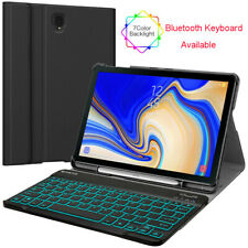 """For Samsung Galaxy Tab S4 10.5"""" Case With 7 Color Backlight Bluetooth Keyboard"""