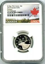 2019 CANADA 25 CENT .9999 SILVER PROOF QUARTER NGC PF69 UCAM FIRST RELEASES
