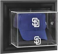 San Diego Padres Black Framed Wall-Mounted Logo Cap Display Case - Fanatics