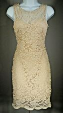 """""""B. Darlin"""" """"Creme/Champagne"""" Colored Lace Dress / Size 3/4 / Pre-Owned"""