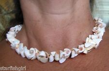 "Conch Shell Curls Necklace NEW 18"" boho, hippe, tropical, surfer style"