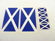 6 Vinyl, Plastic Scotland Flag Self-Adhesive Stickers, Scottish Saltire Labels