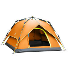 Orange Waterproof 3-4 persons Double Automatic Instant Cabin Family Camping Tent