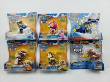 PAW PATROL Mighty Pups Super Paws Figures, Construction Zuma, and Reg Chase New