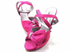 DYEABLES, LACEY PLATFORM SANDAL, WOMENS, FUSCHIA SEQUINS, US 5B, NEW W/O BOX