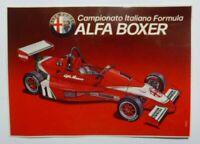 VECCHIO ADESIVO MOTO  / Old Original Sticker F1 ALFA ROMEO ALFA BOXER (cm 12x8)