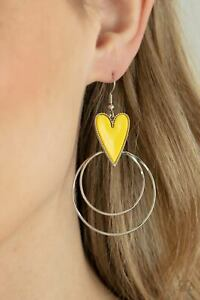 Paparazzi ~ Happily Ever Hearts Yellow Heart Earrings ~ 💛NEW RELEASE 2021💛 WOW