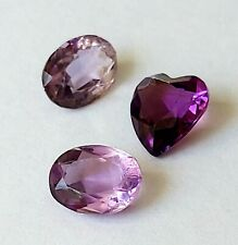 Natural PURPLE Amethyst Loose Oval & Heart Shape Gemstones Jewellery Setting