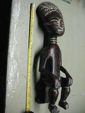 WEST  AFRICA  CARVED  SEATED FIGURE 14''