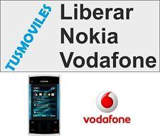 Liberar Nokia VODAFONE imei X3 5300 5200 6288 6085 8800 7390 7373 6151 6080 1110