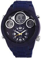 Akzent Herrenuhr Blau Analog Digital Datum Alarm Silikon Quarz XSS9093000001