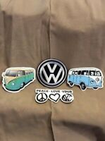 1 VW Volkswagen VDUB  embroidered patch, Iron on or Sew & 3 V.W. stickers