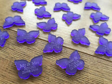 50 Personalised Wedding Table Decorations Favours Mr & Mrs Butterfly Decorations