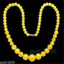 natural Yellow gemstone spacer loose beads 6-14mm round stone necklace