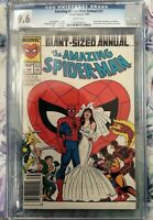 Amazing Spider-Man Annual #21 CGC 9.6 White Pages Peter Parker Mary Jane Wedding