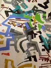 HYMAN, Phyllis Trager (Jewish American 1936-2011) Modern Abstract Art on Canvas