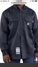 Carhartt Men's Flame-Resistant Work-Dry Lightweight Twill Shirt - Navy 4XL
