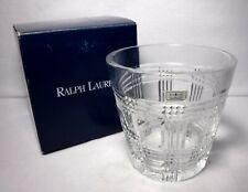 "RALPH LAUREN crystal GLEN PLAID pattern Ice Bucket - 6"" - includes Box"