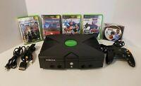 Microsoft Original Xbox Bundle- Console, Controller, AV & Power Cord + 5 Games