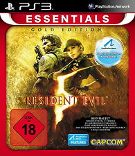 Resident EVIL 5-Essentials ORO Edition-Usk 18/ps3-NUOVO & OVP