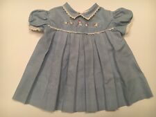 1960's Vintage Nannette blue baby Frock dress size 6-9 mo.
