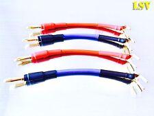 Nuevo altavoz de la serie Azul Van Damme profesional los cables puente X 4 (un Par)