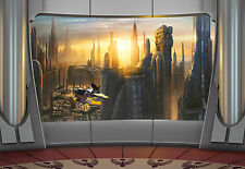 STAR WARS CORUSCANT VIEW Photo Wallpaper Wall Mural PLANET SCYSCRAPERS 368X254cm