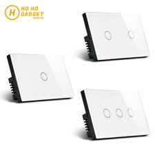 Smart Light Switch WIFI Glass Home 1/2/3 Gang APP Remote Control LED AU Standard