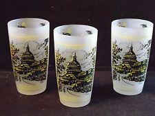 3 U.S. Capitol Washington D.C. Souvenir Glass Tumblers One Drink Two Drink Fool