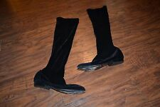 H2- IRIE Black Velour Boots Size 5