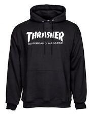 Thrasher Skateboard Skate Mag Logo Black Hoody Extra Large