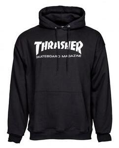 THRASHER MAGAZINE LOGO HOODY - BLACK