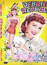 Vintage Uncut 1955/59 Debbie Reynolds Paper Dolls~Double Set!~14 Pages~#1 Repro