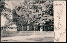 COLUMBIA PA Oldest House Antique B&W Postcard Early Old Vtg Town View PC